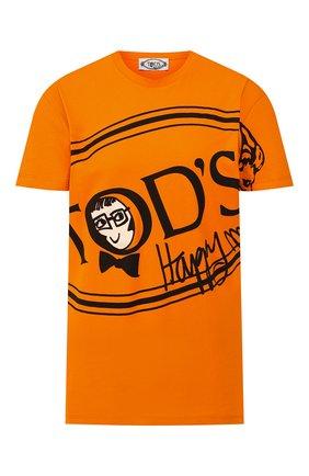 Женская хлопковая футболка TOD'S X ALBER ELBAZ оранжевого цвета, арт. X5MB2395700RVR | Фото 1