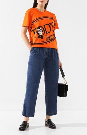 Женская хлопковая футболка TOD'S X ALBER ELBAZ оранжевого цвета, арт. X5MB2395700RVR | Фото 2