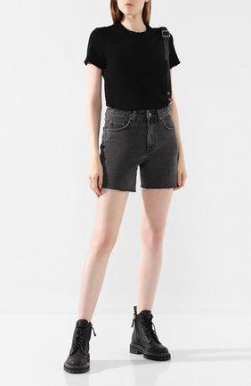 Женская хлопковая футболка COTTON CITIZEN черного цвета, арт. W11361   Фото 2
