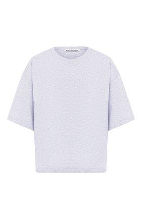 Женская хлопковая футболка ACNE STUDIOS серого цвета, арт. AL0092 | Фото 1