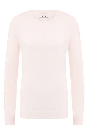 Женская пуловер из смеси шерсти и кашемира MAX&MOI белого цвета, арт. H19L0VER | Фото 1