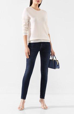 Женская пуловер из смеси шерсти и кашемира MAX&MOI белого цвета, арт. H19L0VER | Фото 2