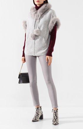 Женский кардиган из смеси шерсти и кашемира MAX&MOI светло-серого цвета, арт. H19B0NIE | Фото 2