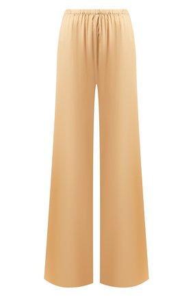 Женские шелковые брюки ERMANNO SCERVINO светло-бежевого цвета, арт. D354P310RBJ | Фото 1