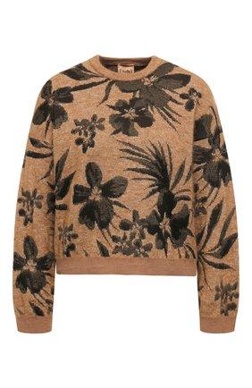 Женская пуловер NUDE бежевого цвета, арт. 1101084/R0UNDNECK SWEATER | Фото 1
