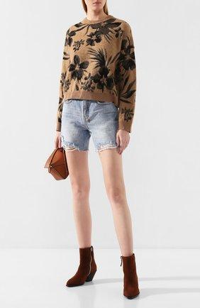 Женская пуловер NUDE бежевого цвета, арт. 1101084/R0UNDNECK SWEATER | Фото 2
