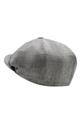 Мужская шерстяное кепи BRUNELLO CUCINELLI серого цвета, арт. MN4169945 | Фото 2