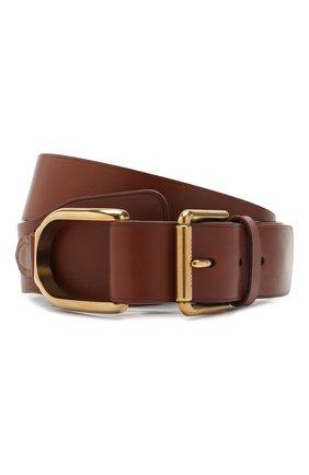 Мужской кожаный ремень RALPH LAUREN темно-коричневого цвета, арт. 404761751 | Фото 1