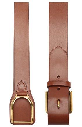 Мужской кожаный ремень RALPH LAUREN темно-коричневого цвета, арт. 404761751 | Фото 2