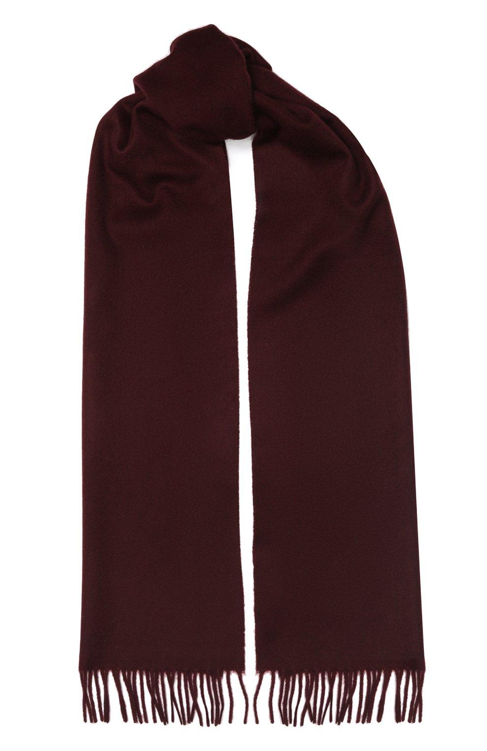Мужской кашемировый шарф AD56 бордового цвета, арт. 64200   Фото 1