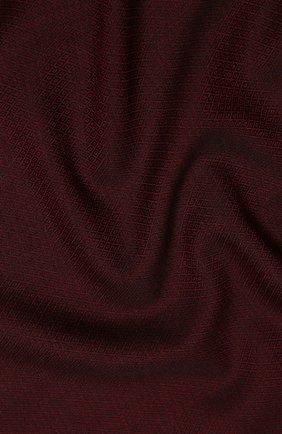 Мужской шарф из смеси шерсти и шелка AD56 бордового цвета, арт. 705303 | Фото 2