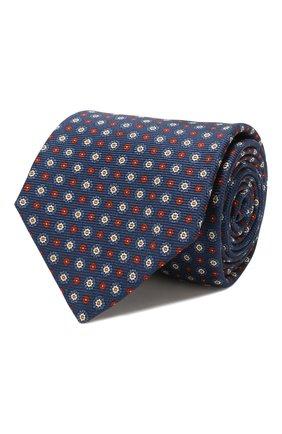 Мужской шелковый галстук KITON темно-синего цвета, арт. UCRVKLC08F09 | Фото 1