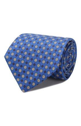 Мужской шелковый галстук KITON синего цвета, арт. UCRVKLC08F09 | Фото 1