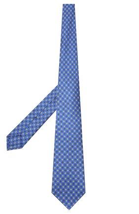 Мужской шелковый галстук KITON синего цвета, арт. UCRVKLC08F09 | Фото 2