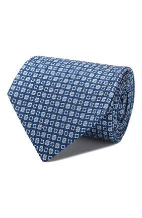 Мужской шелковый галстук KITON голубого цвета, арт. UCRVKLC08F11 | Фото 1