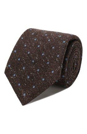 Мужской шелковый галстук KITON коричневого цвета, арт. UCRVKLC09F02 | Фото 1