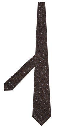 Мужской шелковый галстук KITON коричневого цвета, арт. UCRVKLC09F02 | Фото 2