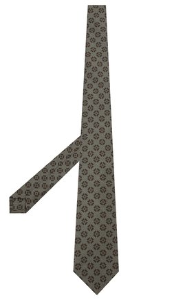 Мужской галстук из смеси шерсти и шелка KITON хаки цвета, арт. UCRVKLC09F34 | Фото 2