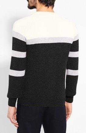 Мужской кашемировый свитер KITON черного цвета, арт. UK977 | Фото 4