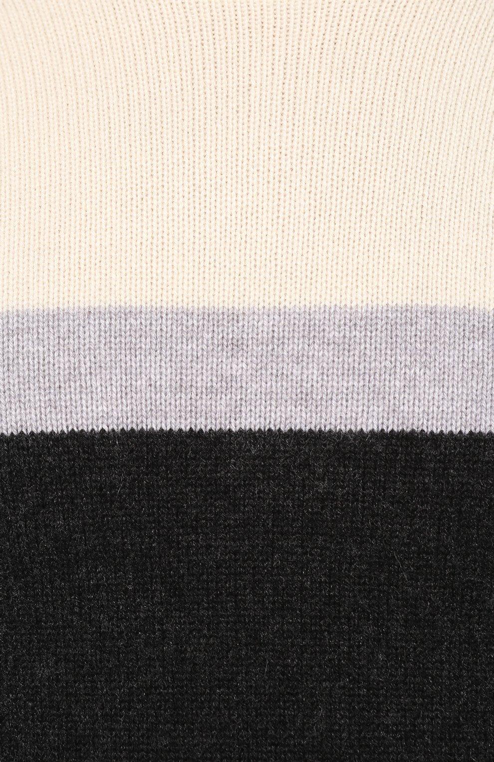 Мужской кашемировый свитер KITON черного цвета, арт. UK977 | Фото 5