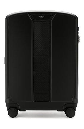 Мужской дорожный чемодан SERAPIAN черного цвета, арт. SP0STMTR7090M55A | Фото 1