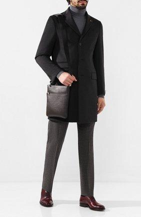 Мужская кожаная сумка-планшет SERAPIAN темно-коричневого цвета, арт. SEV0LMML6794M23D | Фото 2