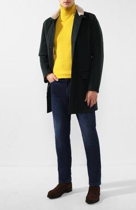 Мужской кашемировое пальто LORO PIANA темно-зеленого цвета, арт. FAI8605 | Фото 2 (Материал внешний: Шерсть, Кашемир; Стили: Кэжуэл; Мужское Кросс-КТ: пальто-верхняя одежда, Верхняя одежда; Материал подклада: Хлопок; Рукава: Длинные; Длина (верхняя одежда): До середины бедра; Статус проверки: Проверена категория)