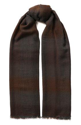 Мужской кашемировый шарф DOLCE & GABBANA коричневого цвета, арт. GQ213E/G2QAB | Фото 1