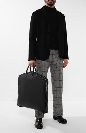 Мужская кожаная дорожная сумка SERAPIAN черного цвета, арт. SCACHMTR7077M55A | Фото 2