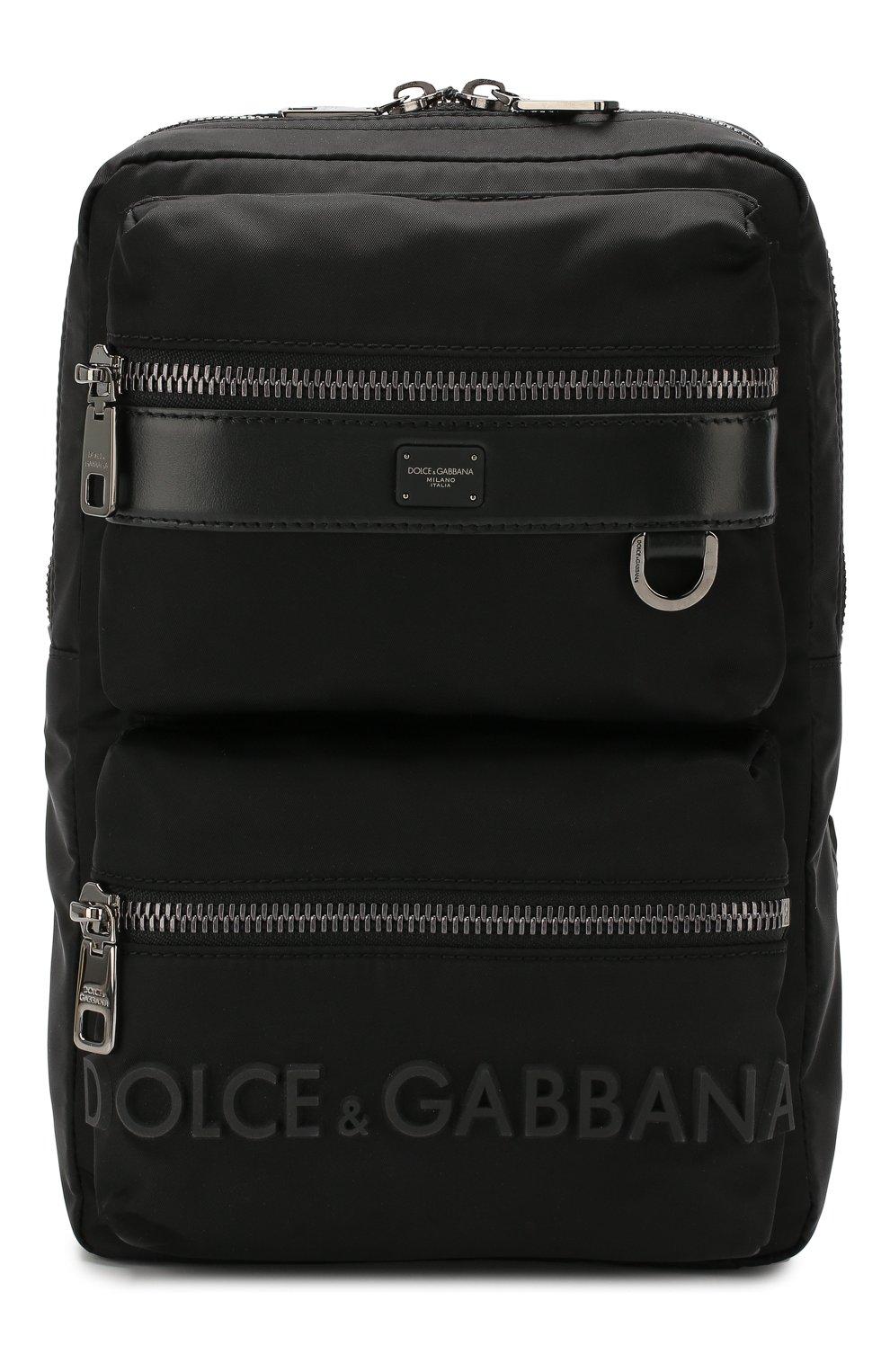 Мужской текстильный рюкзак sicilia dna DOLCE & GABBANA черного цвета, арт. BM1703/AZ675 | Фото 1