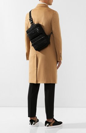 Мужской текстильный рюкзак sicilia dna DOLCE & GABBANA черного цвета, арт. BM1703/AZ675 | Фото 2