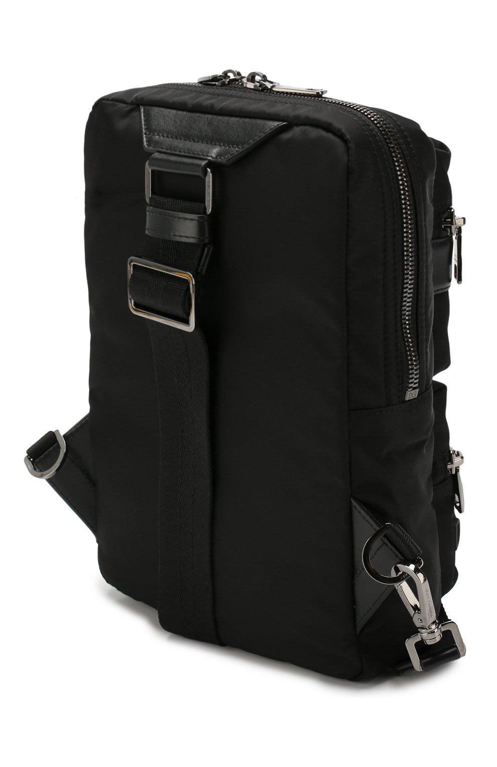 Мужской текстильный рюкзак sicilia dna DOLCE & GABBANA черного цвета, арт. BM1703/AZ675 | Фото 3