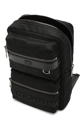 Мужской текстильный рюкзак sicilia dna DOLCE & GABBANA черного цвета, арт. BM1703/AZ675 | Фото 4