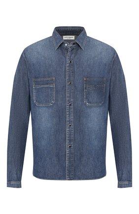 Мужская джинсовая рубашка SAINT LAURENT синего цвета, арт. 575157/Y880L | Фото 1