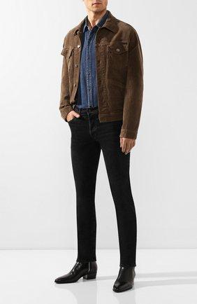 Мужская джинсовая рубашка SAINT LAURENT синего цвета, арт. 575157/Y880L | Фото 2