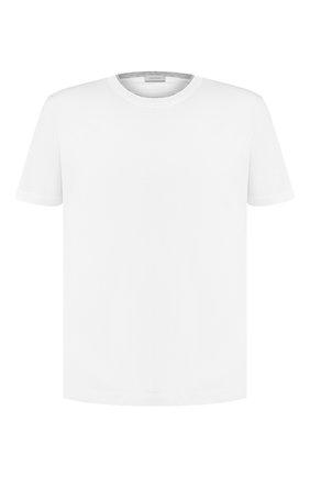 Мужская хлопковая футболка CORTIGIANI белого цвета, арт. 716613/0000 | Фото 1