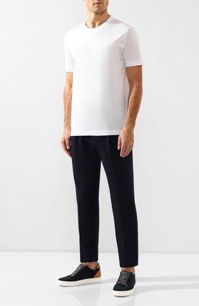 Мужская хлопковая футболка CORTIGIANI белого цвета, арт. 716613/0000 | Фото 2