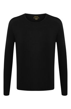 Мужские лонгслив POLO RALPH LAUREN черного цвета, арт. 714753030 | Фото 1