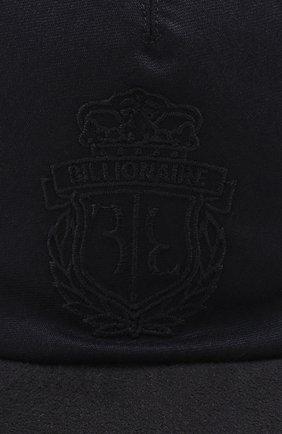 Мужской шерстяная бейсболка BILLIONAIRE темно-синего цвета, арт. MAC0466 | Фото 3