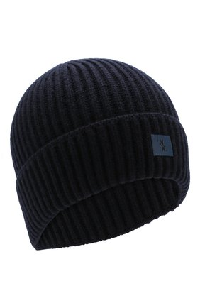 Мужская шерстяная шапка BILLIONAIRE темно-синего цвета, арт. MAC0465 | Фото 1