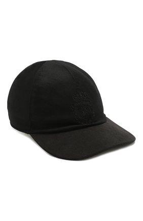 Мужской шерстяная бейсболка BILLIONAIRE черного цвета, арт. MAC0466 | Фото 1