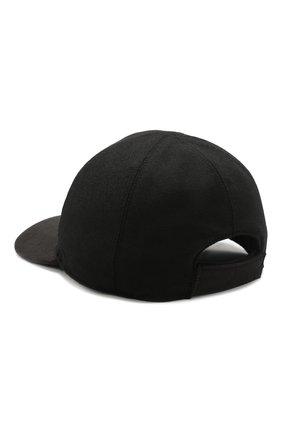 Мужской шерстяная бейсболка BILLIONAIRE черного цвета, арт. MAC0466 | Фото 2