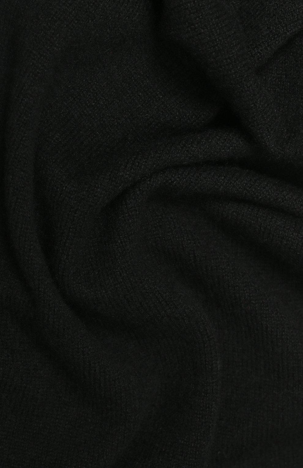 Мужской кашемировый шарф tallinn CANOE черного цвета, арт. 4912610 | Фото 2