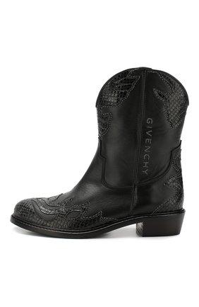 Детские кожаные ботинки GIVENCHY черного цвета, арт. H19022 | Фото 2