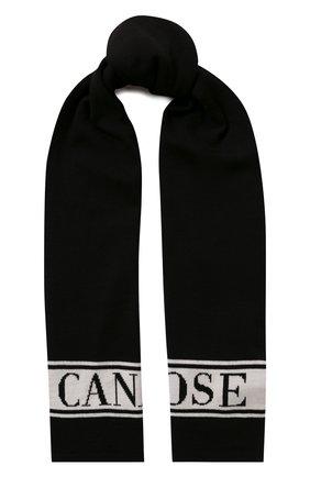 Детский шерстяной шарф CANADA GOOSE черного цвета, арт. 6955K | Фото 1
