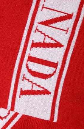 Детский шерстяной шарф CANADA GOOSE красного цвета, арт. 6955K   Фото 2