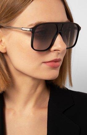 Женские солнцезащитные очки VICTORIA BECKHAM черного цвета, арт. S156 C01 | Фото 2