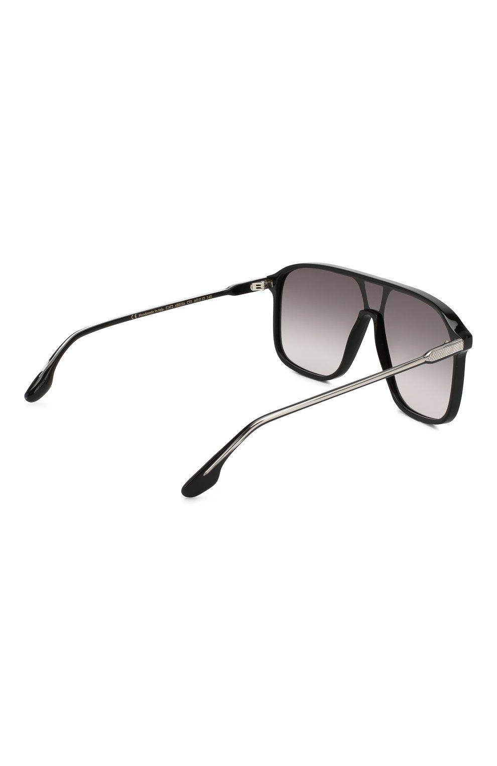 Женские солнцезащитные очки VICTORIA BECKHAM черного цвета, арт. S156 C01 | Фото 4