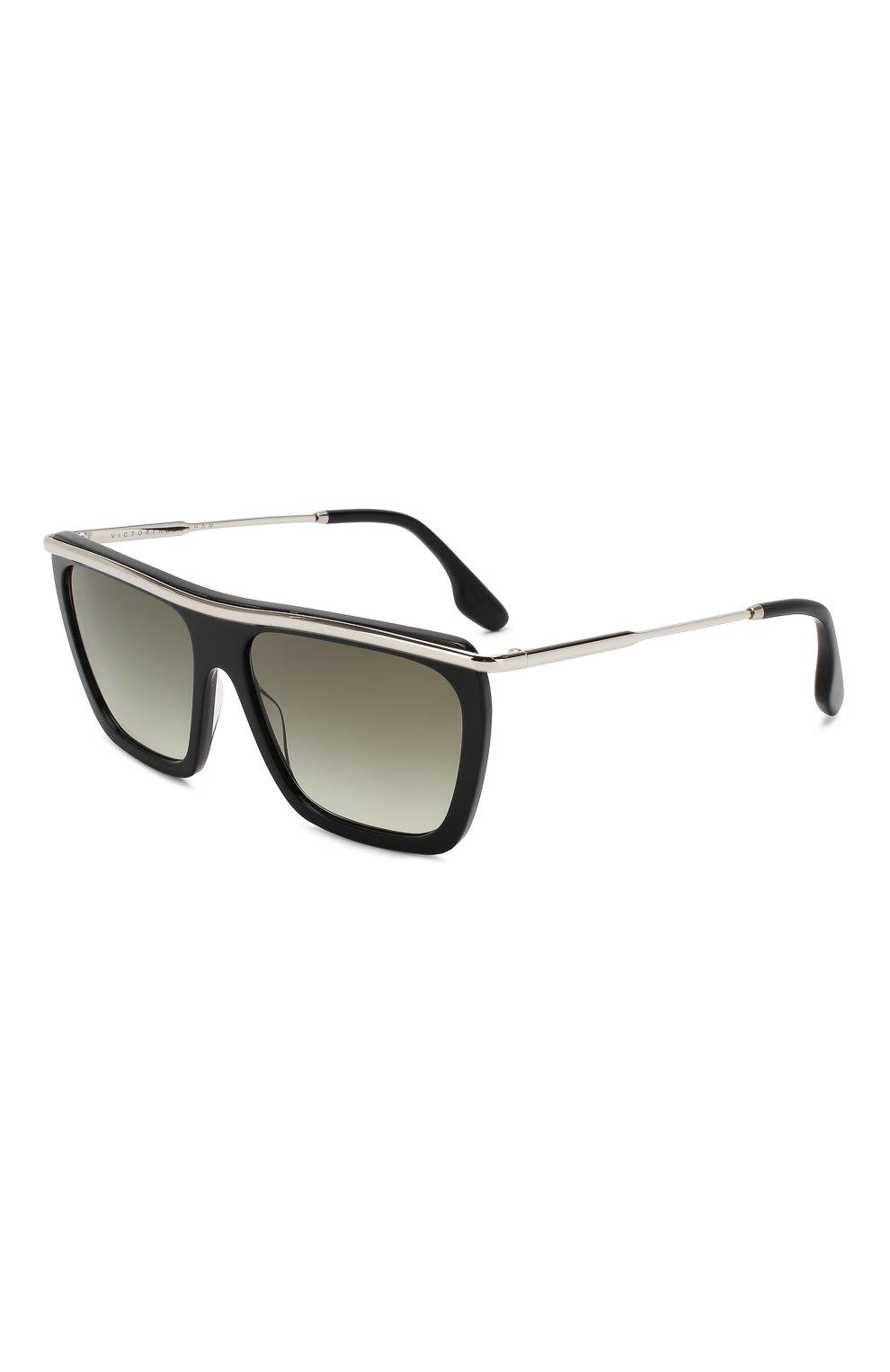 Женские солнцезащитные очки VICTORIA BECKHAM черно-белого цвета, арт. S154 C01 | Фото 1