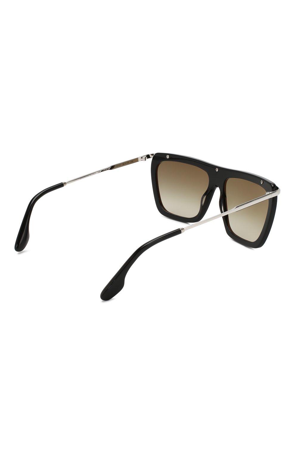 Женские солнцезащитные очки VICTORIA BECKHAM черно-белого цвета, арт. S154 C01 | Фото 4